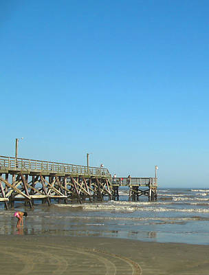Photograph - Sunday At Surfside Pier by Connie Fox