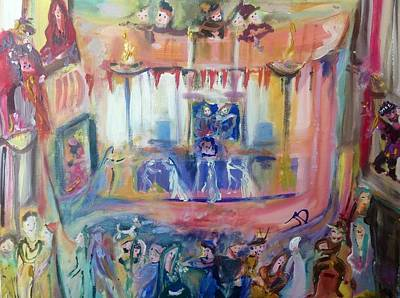 Social History Painting - Sunday At The Hall by Judith Desrosiers