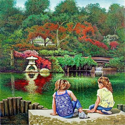 Art Print featuring the painting Sunday At The Park by Michael Frank