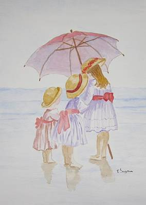 Sunday Best At The Beach Art Print by Elvira Ingram