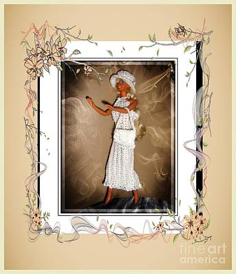 Brunch Digital Art - Sunday Brunch With Friends - Fashion Doll - Girls - Collection by Barbara Griffin