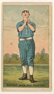 Baseball Drawings Drawings Drawing - Sunday, Center Field, Chicago by D. Buchner & Co., New York