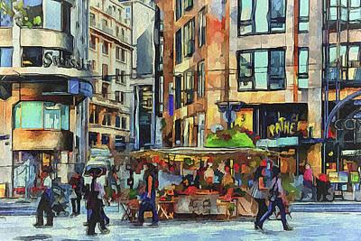 Old Town Digital Art - Sunday City Walk by Yury Malkov