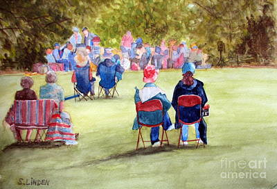 Sunday Concert Art Print by Sandy Linden