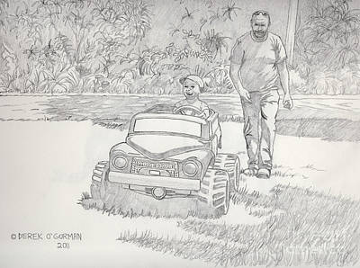 Drawing - Sunday Drive by Derek O'Gorman