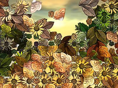 Sundays Digital Art - Sunday Garden by Wendy J St Christopher