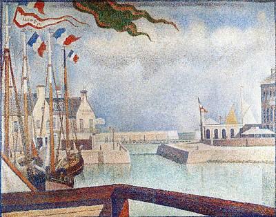 Port-en-bessin Painting - Sunday In Port-en-bessin by Georges Seurat