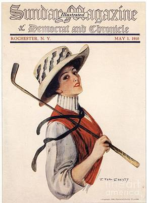 Nineteen-tens Drawing - Sunday Magazine 1910s Usa Golf Womens by The Advertising Archives