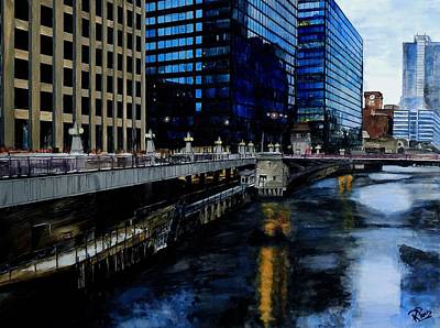 Painting - Sunday Morning In January- Chicago by Raymond Perez