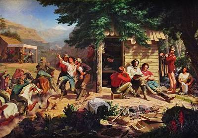 Sunday Morning In The Mines Art Print by Charles Nahl