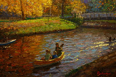 Knifework Painting - Sunday On Avon by Terry Perham