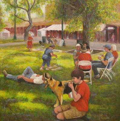Sunday On The Plaza Art Print by Donelli  DiMaria