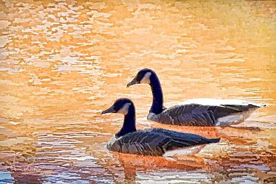 Art Print featuring the photograph Sunday On The Pond by Ludwig Keck