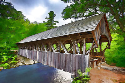 Painting - Sunday River Bridge by John Haldane