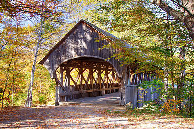 Sunday River Covered Bridge Art Print