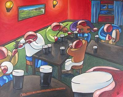 Painting - Sunday Sessions by Olivier Longuet