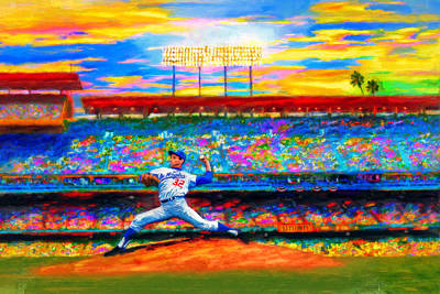 Baseball Mixed Media - Sunday With Sandy by Alan Greene