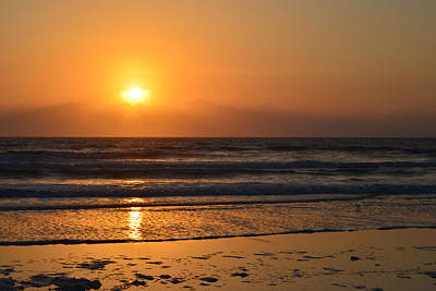 Art Print featuring the photograph Sundays Golden Sunrise by DigiArt Diaries by Vicky B Fuller