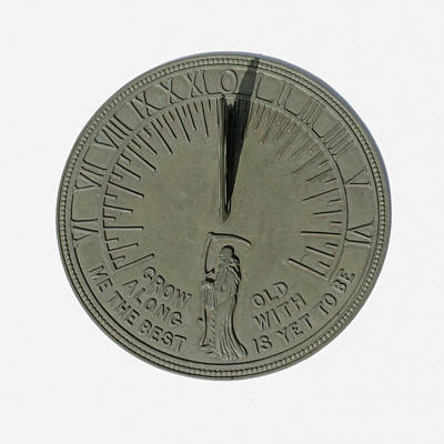 Father Time Photograph - Sundial 2 Of 3 by Science Stock Photography