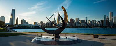 Adler Wall Art - Photograph - Sundial And Chicago Il by Steve Gadomski