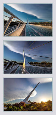 Sundial Bridge Triptych Art Print by Leland D Howard