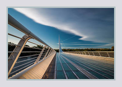 Sundial Bridge 1b Art Print by Leland D Howard