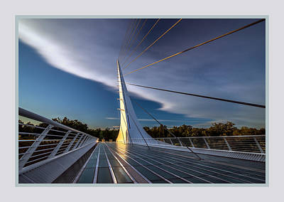 Sundial Bridge 2b Art Print by Leland D Howard