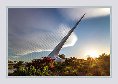 Sundial Bridge 3b Art Print by Leland D Howard
