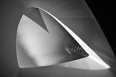 Photograph - Sundial Bridge Bw 1 by Leland D Howard