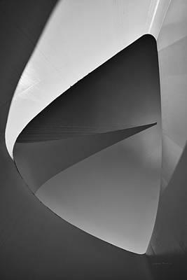 Photograph - Sundial Bridge Bw 2 by Leland D Howard