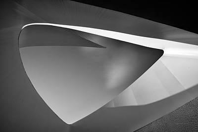 Photograph - Sundial Bridge Bw 4 by Leland D Howard