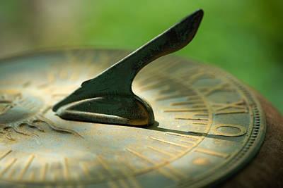 Photograph - Sundial by Byron Jorjorian