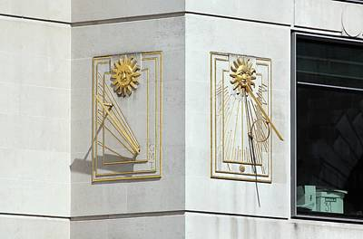 Sundial Photograph - Sundials by Martin Bond