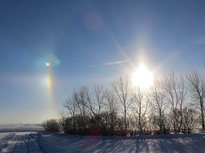 Photograph - Sundog In North Dakota by Christy Patino