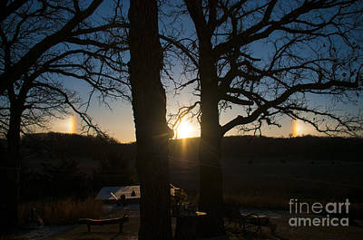 Phantom Dog Photograph - Sundog Sunrise by Jamie Sesti