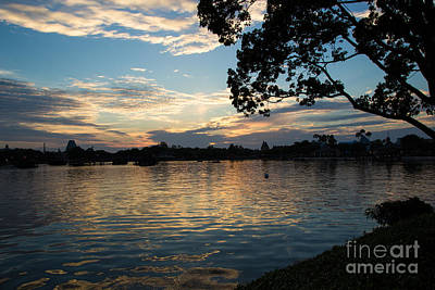 Photograph - Sundown At Epcot by Suzanne Luft