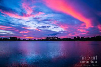 Sundown At The Lake Art Print