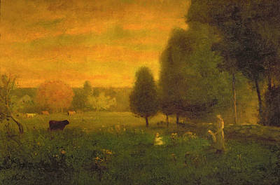 Evening Landscapes Painting - Sundown Brilliance by George Snr. Inness