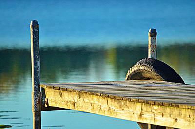 Photograph - Sundown Dock by Mary Frances