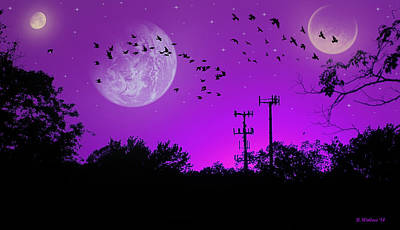 Sundown Fantasy - Violet Art Print by Brian Wallace