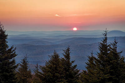Sundown From Spruce Knob Art Print by Jaki Miller