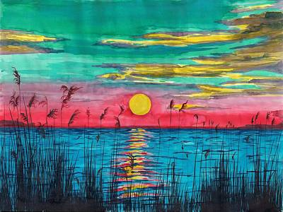 Sundown In The Glades Art Print by Beverly Marshall