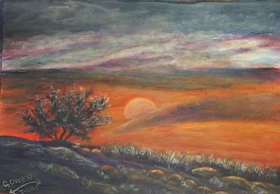 Painting - Sundown In Vail Az by Caroline Owen-Doar