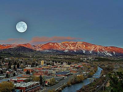 Photograph - Sundown Moon Rise by Matt Helm