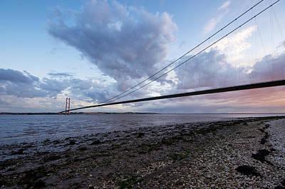 Kingston On Photograph - Sundown On The Humber Bridge by Stephen Taylor