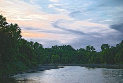 Photograph - Sundown On The Racoon River by Judy Hall-Folde