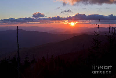 Photograph - Sundown On The Smoky Mountains by Dennis Hedberg
