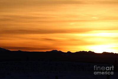 Sundre Sunset Art Print