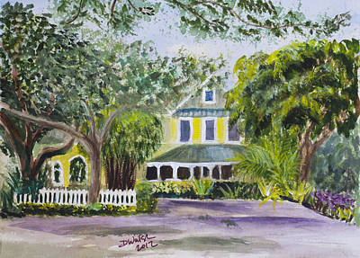 Sundy House In Delray Beach Art Print by Donna Walsh