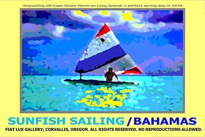 Sunfish Digital Art - Sunfish Sailing Bahamas II by Michael Moore